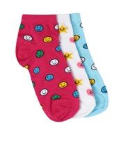 DressBerry Women Set of 3 Ankle-Length Socks