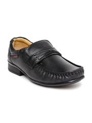 Red Chief Men Black Leather Semiformal Slip-Ons