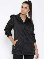 Fort Collins Black Hooded Rain Jacket