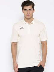 Adidas Off-White SS B Polyester Cricket Polo T-shirt