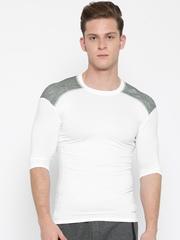 Adidas White TF Base Panelled T-shirt