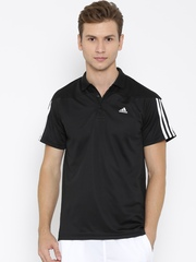 Adidas Black Base 3S Polyester Training Polo T-shirt
