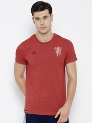 Adidas Red Manchester United Football Club T-shirt