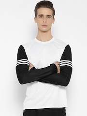 Adidas White RS Polyester Running T-shirt
