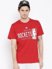 Adidas Red 4 Printed Basket Ball T-shirt