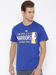 Adidas Blue NBA Golden State Warriors 4 Printed Basketball T-shirt