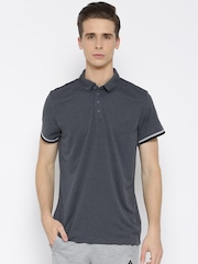 Adidas Charcoal Grey UNCTL Climachill Polyester Polo T-shirt