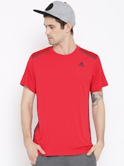 Adidas Red Cool 365 Polyester Training T-shirt