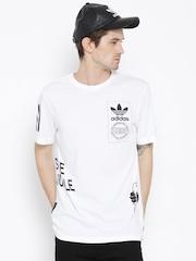 Adidas Orginals White STRTOFFPLACED Printed T-shirt
