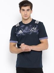Adidas Navy MUN COTT Printed T-shirt