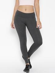 Adidas Charcoal Grey ESS Linear Printed Tights