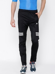 Adidas Black BASEMID KN Polyester Training Track Pants