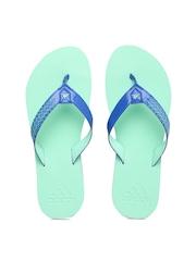 Adidas Women Blue & Mint Green Brizo 4.0 Flip-Flops