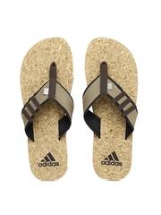 Adidas Men Brown Beach Cork Flip-Flops