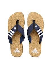 Adidas Men Navy Beach Cork Flip-Flops