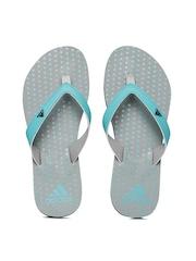 Adidas Women Blue & Grey Printed Flip-Flops