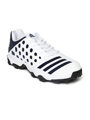 Adidas Men White & Navy SL 22 TRAINER16 Cricket Shoes
