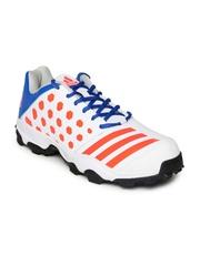 Adidas Men White & Neon Orange SL 22 TRAINER16 Cricket Shoes