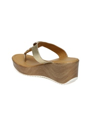 Addons Women Gold-Toned Wedges