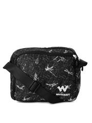 Wildcraft Men Brown & Black Printed Messenger Bag