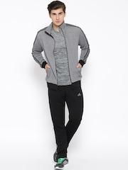 Adidas Grey & Black Interlock Tracksuit