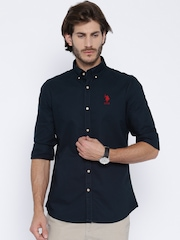 U.S. Polo Assn. Navy Tailored Fit Casual Shirt
