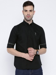 U.S. Polo Assn. Black Tailored Fit Casual Shirt