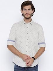 U.S. Polo Assn. Beige Printed Casual Shirt