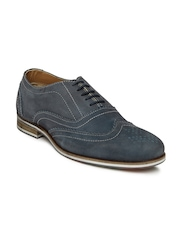 Allen Solly Men Blue Leather Brogue Shoes