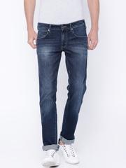 Wrangler Navy Washed Rockville Regular Fit Jeans