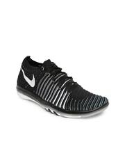Nike Women Black & White Free Transform Flyknit Training Shoes