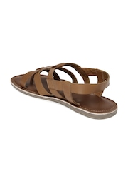 Tortoise Men Brown Leather Sandals