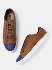 Moda Rapido Men Brown Colourblocked Sneakers