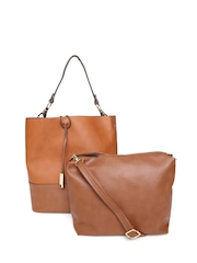 Parfois Brown Shoulder Bag with Sling Bag