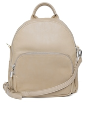 Parfois Women Beige Backpack with Sling Strap