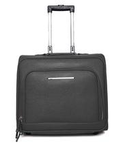 Parfois Women Black Textured Trolley Bag