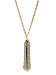 Parfois Gold-Toned Tassel Pendant with Chain