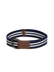Roadster Men Blue & White Striped Belt