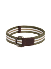 Roadster Men Olive Green Striped Belt