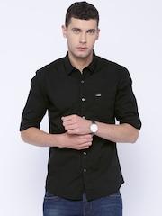 Wrangler Black Slim Fit Casual Shirt