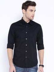 Flying Machine Black Slim Casual Shirt