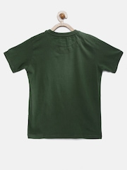 U.S. Polo Assn. Kids Boys Olive Green Printed T-shirt