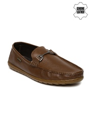 Lee Cooper Men Brown Solid Genuine Leather Loafers