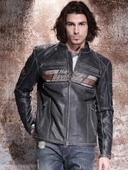 Harley-Davidson® Black Leather Biker Jacket