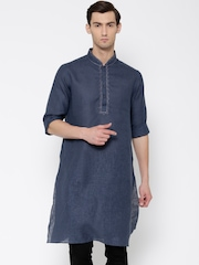 indus route by Pantaloons Navy Kurta