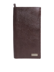 Fossil Men Coffee Brown Genuine Cowhide Leather Executive Wallet