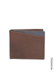 Fossil Men Brown Genuine Cowhide Leather Wallet