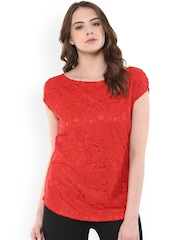 Raindrops Red Lace Top