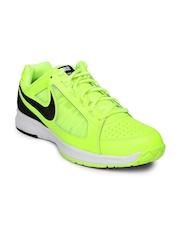 Nike Men Fluorescent Green Air Vapor Ace Leather Tennis Shoes