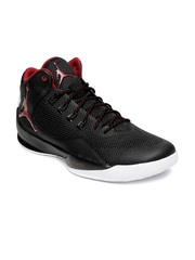 Nike Men Black Jordan Rising High 2 Basketball Shoes